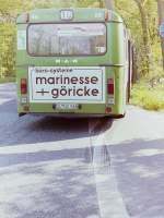 MAN SL 200/147328/wagen-56--wagen-67- Wagen 56 / Wagen 67. ... trotz einer Vollbremsung und eines Ausweichmanövers des stadteinwärtsfahrenden Busses, in flachem Winkel auf diesen auftraf. Die Beseitigung der Unfallschäden war aber nicht der letzte Grund für eine neue Lackierung dieses Busses.