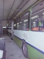 OVB Pekol/150731/wagen-158-nach-einem-tip-fand Wagen 158. Nach einem Tip fand ich den Bus Anfang 1993 in der Lackierhalle der Firma VILLWOCK-Werbung, wo er gerade vorbereitet wurde, um ...